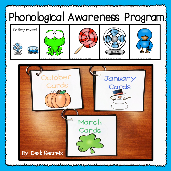 Picture of my Phonological Awareness Program to click on